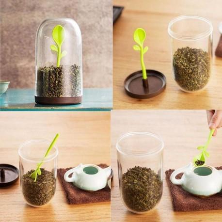 ظرف نگهدارنده چای و قهوه جوانه سایز کوچک