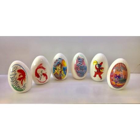 تخم مرغ سفالی بزرگ هفت سین