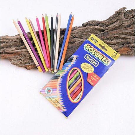 مداد رنگی 12 رنگ بلند مقوایی چینی