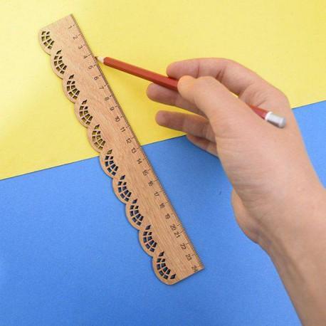 خط کش چوبی طرح دالبر پارسام