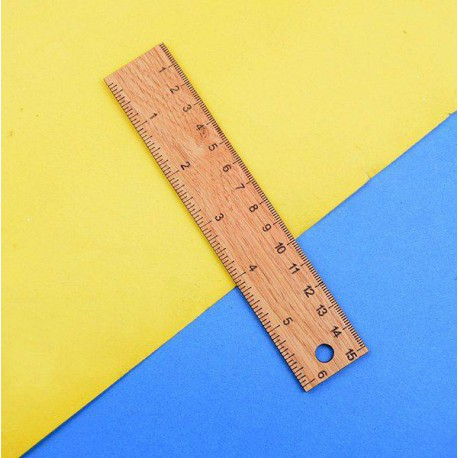 خط کش 15 سانتیمتری چوبی کلاسیک