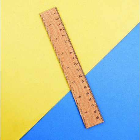 خط کش 20 سانتیمتری چوبی کلاسیک