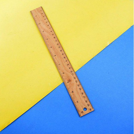 خط کش 30 سانتیمتری چوبی کلاسیک