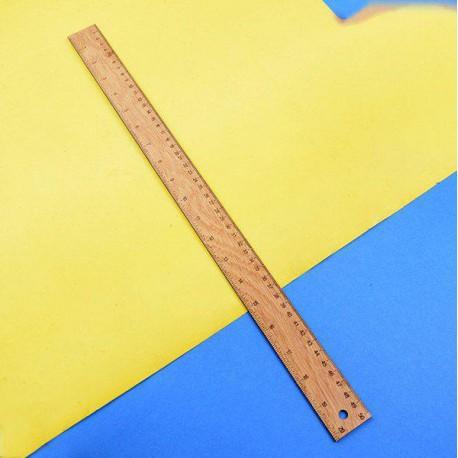 خط کش 50 سانتیمتری چوبی کلاسیک