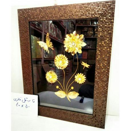 قاب عکس گل طلایی 40 در 50