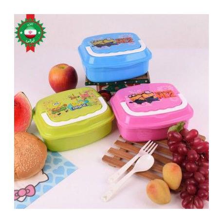 ظرف غذا کودک دوطبقه صندوقی