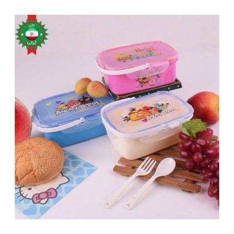 ظرف غذا کودک دوطبقه مستطیل