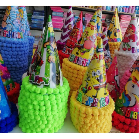 کلاه شیپوری جشن تولد توپی طرح دختر و پسر