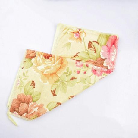 دستمال حوله ای گلدار زرد 40 در 40