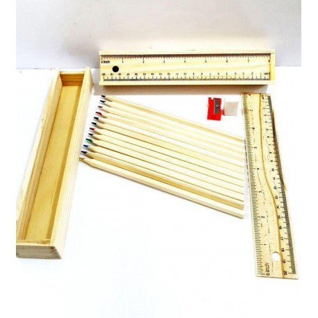 مداد رنگی 12 رنگ جعبه چوبی