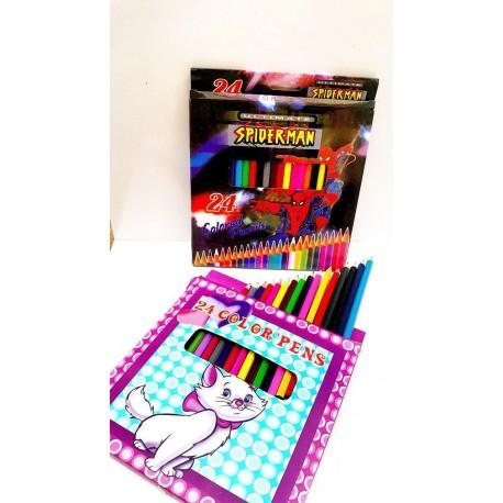 مداد رنگی 24 رنگ مقوایی