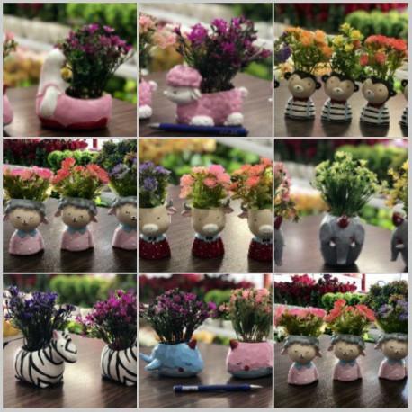 مینی گلدان گلدا پلی استر حیوانات