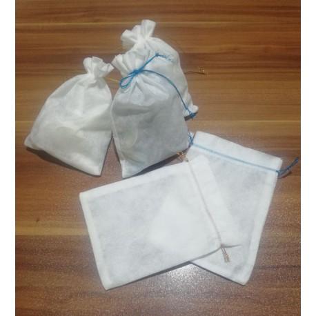 کیسه پارچه ای سفید سایز 17×12 سانتیمتری