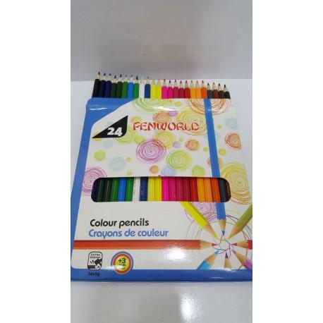 مداد رنگی 24 رنگ Penworld