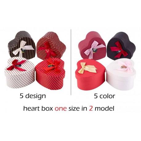 جعبه کادویی طرح قلب تکی