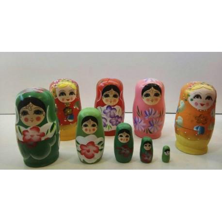 عروسک ماتریشکا چوبی روسی 5 تکه