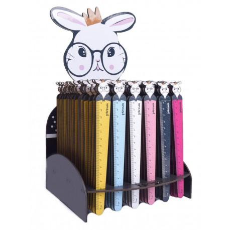 خط کش بوک مارکی چوبی طرح خرگوش | استند 120 عددی