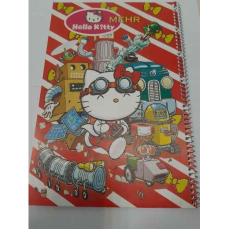 دفتر نقاشی سیمی بزرگ وزیری جلد کارتونی متنوع