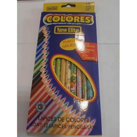 مداد رنگی 12 رنگ بلند جعبه مقوایی کالرز