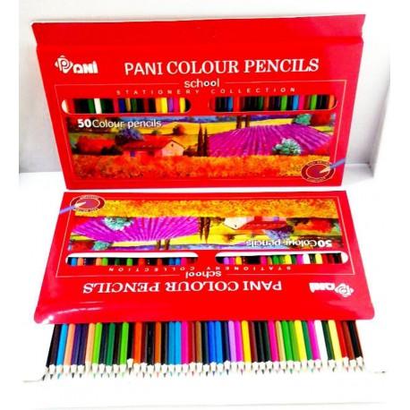 مداد رنگی 50 رنگ جعبه مقوایی