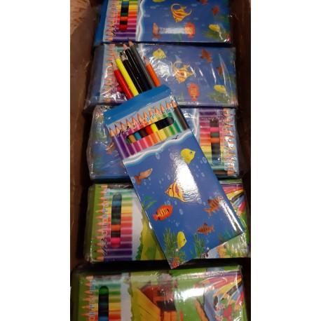 مداد رنگی ۱۲ رنگ مقوایی چینی