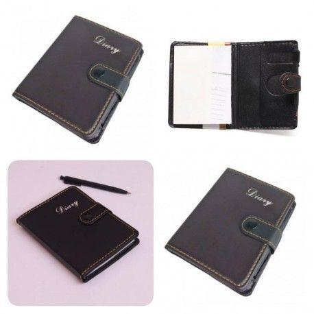 دفترچه یادداشت خودکار دار جلد چرمی ویژه هدایای تبلیغاتی