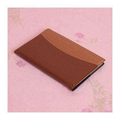 دفترچه یادداشت بزرگ جلد چرم شکلاتی ویژه هدایای تبلیغاتی