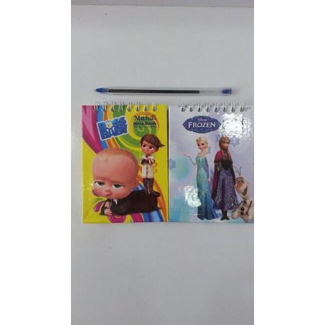 دفترچه یادداشت جلد سخت کارتونی اعلاء