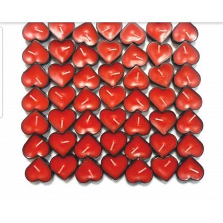 شمع وارمر قلبی قرمز بسته 50 عددی
