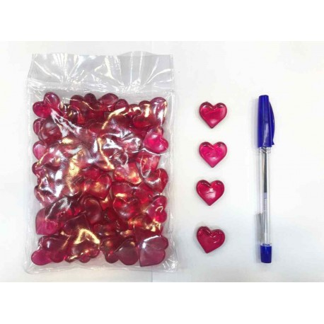 قلب کریستال سایز کوچک بسته 70 تایی