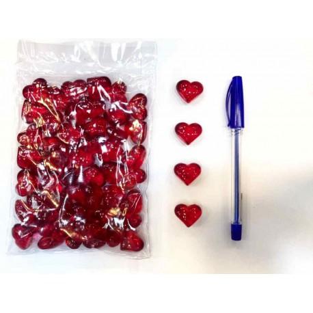 قلب کریستال سایز متوسط بسته 50 تایی