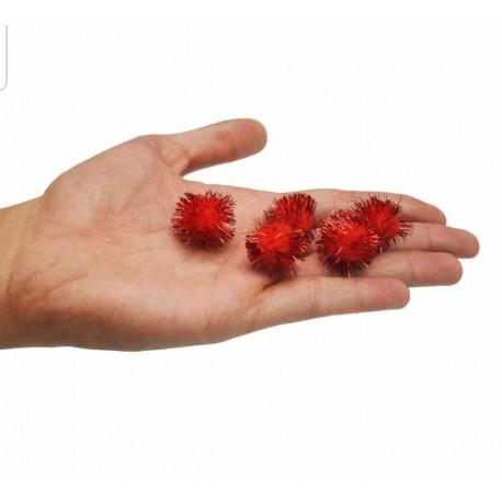 قاصدک قرمز-مشکی سایز درشت بسته 100 تایی
