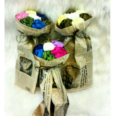 دسته گل کاغذی ولن تاین