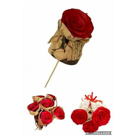 شاخه گل رز چوبی قرمز