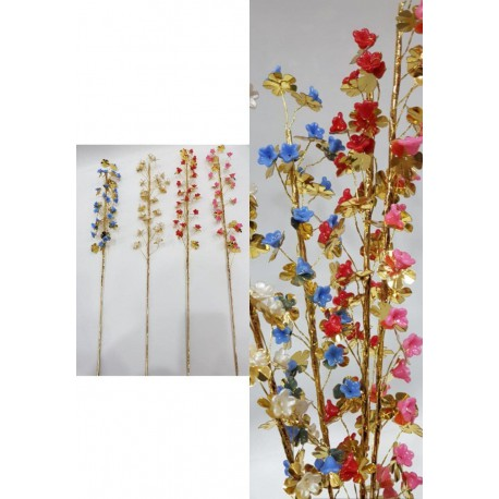 شاخه گل شکوفه حالت پذیر ساقه طلایی