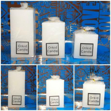 شمع مکعبی سفید 3 تکه بزرگ اعلاء