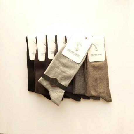 جوراب مردانه نخ و پنبه اعلاء بسته 12 جفتی