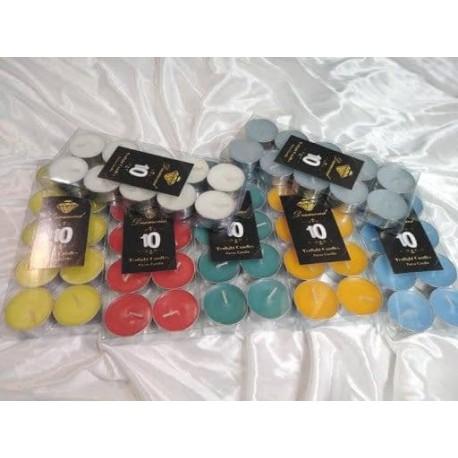 شمع وارمر 10 تایی رنگی