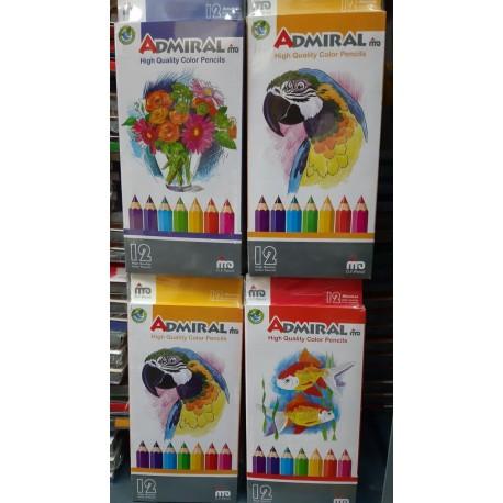مداد رنگی 12 رنگ بلند ادمیرال